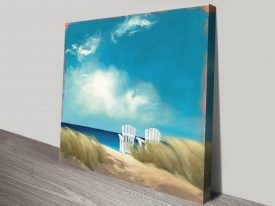 A Perfect Day Seascape Print on Canvas