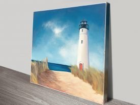 Down the Path Lighthouse Wall Art
