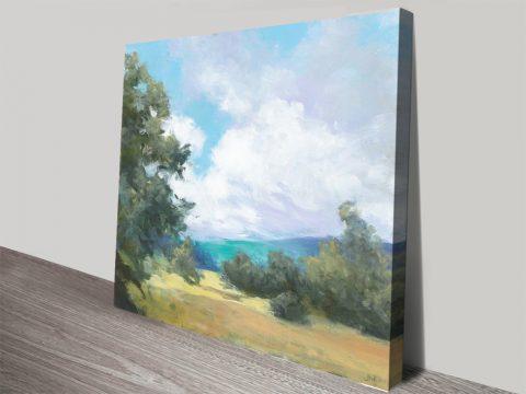 Hedgerow l Landscape Print on Canvas
