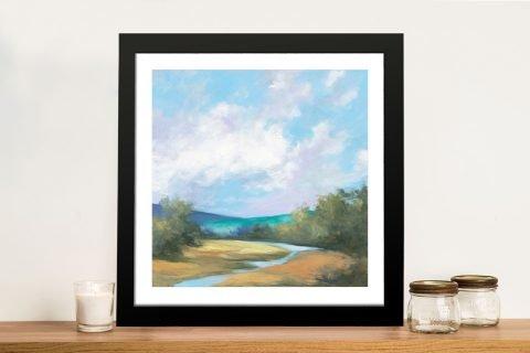 Hedgerow ll Framed Landscape Art Print