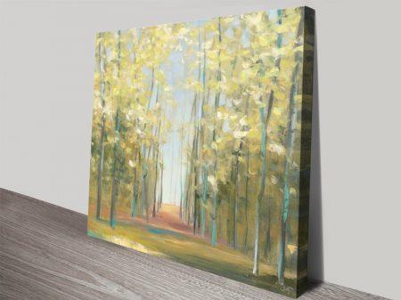 Aspen Grove ll Watercolour Landscape