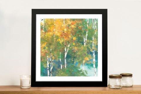 Confetti Framed Colourful Trees Print