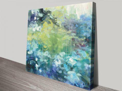Bright Hydrangea Floral Canvas Wall Art