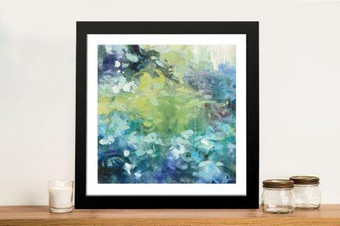 Bright Hydrangea Framed Art on Canvas
