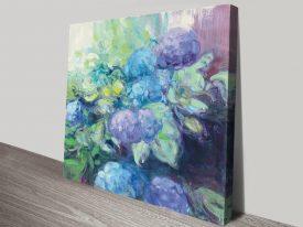 Bright Hydrangea lll Floral Art on Canvas