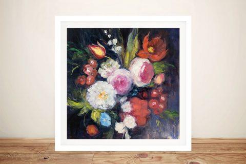 For Eliza Framed Floral Print on Canvas