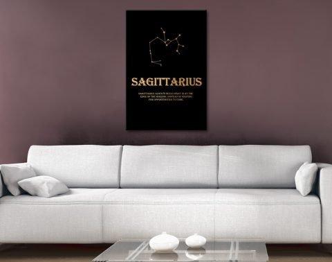 Sagittarius Quality Star Sign Wall Art Online