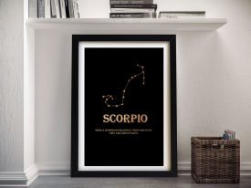 Scorpio Framed Motivational Wall Art