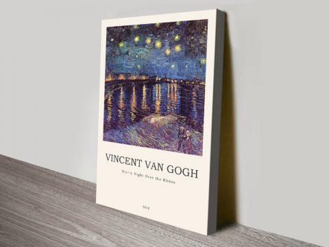 Ready to Hang Modern Van Gogh Wall Art