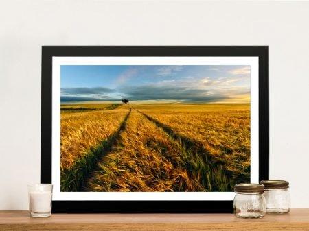 The Wheat Path Framed Wall Art