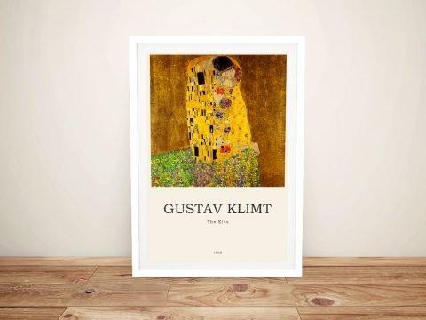 The Kiss Klimt Composition on Canvas