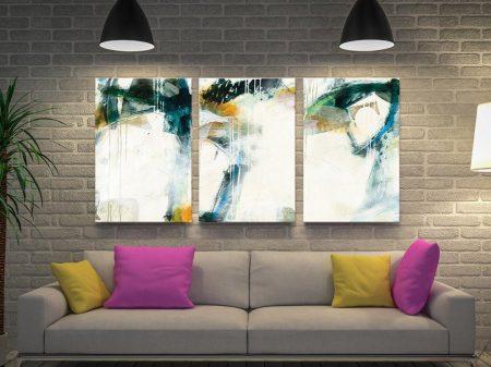 Turbulence Jane Davies Triptych Abstract Art