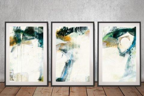 Turbulence Framed 3-Panel Canvas Wall Art