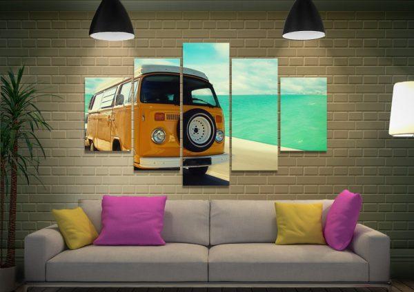 Vintage VW 5-Panel Artwork Gift Ideas AU