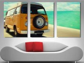 Vintage VW Triptych Canvas Art