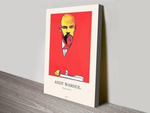 Warhol Red Lenin Modern Composition