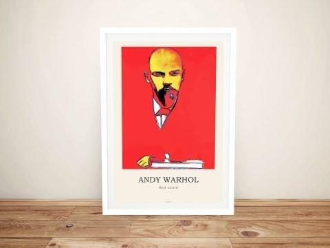 Framed Warhol Red Lenin Pop Art Print