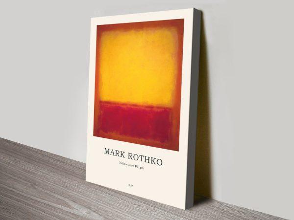 Yellow Over Purple Rothko Art Composition
