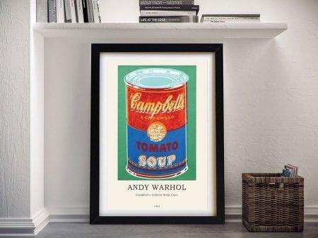 Framed Campbells Soup Can Composition