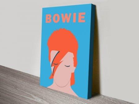 Ziggy Stardust Pop Art Print on Canvas