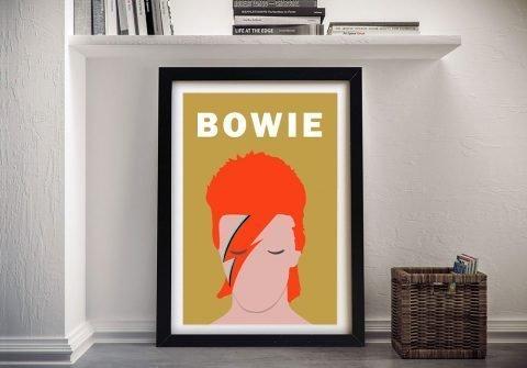 Framed Bowie Pop Art Unique Gift Ideas Online
