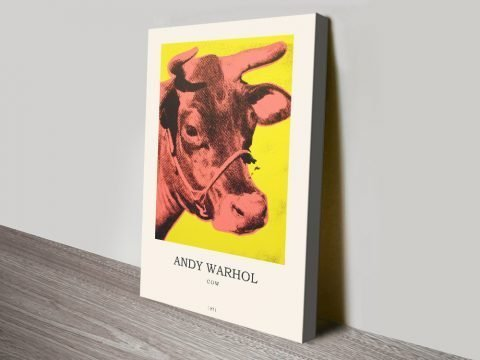 Affordable Yellow Cow Pop Art Composition