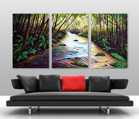Blue Mountains 3-Panel Australian Landscape