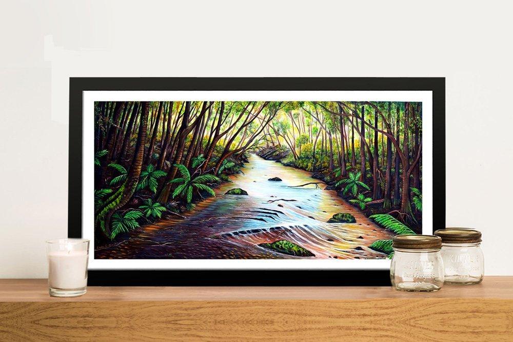 Blue Mountain Creek Panoramic Artwork
