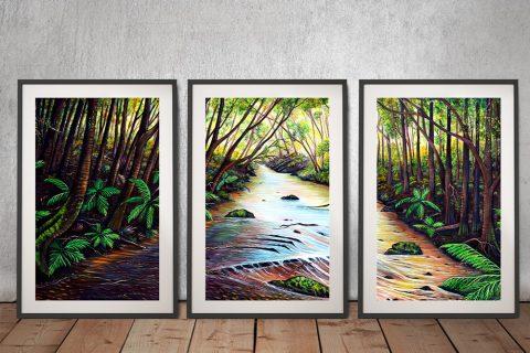 Blue Mountains Framed Split Panel Art AU