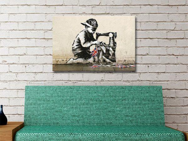 Bansky Slave Labour Canvas Artwork