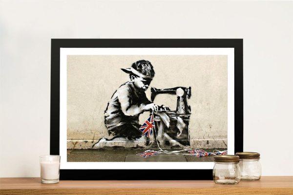 Bansky Slave Labour Framed Wall Art