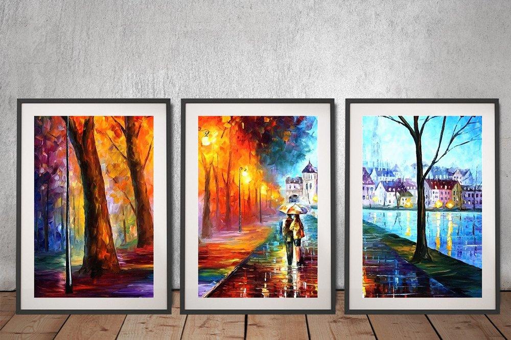 City by the Lake Framed Split Panel Wall Art