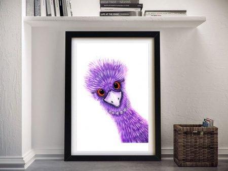 Daisy Quirky Emu Framed Wall Art