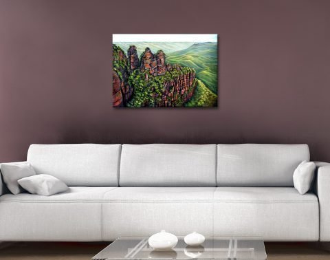 Ready to Hang Blue Mountains Canvas Print