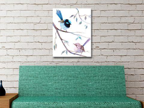 Fairy Wrens Linda Callaghan Art for Sale