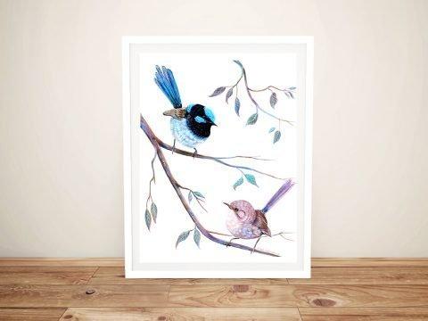 Fairy Wrens Love at First Sight Wall Art