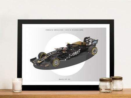 Haas Racing Car Framed Formula 1 Art