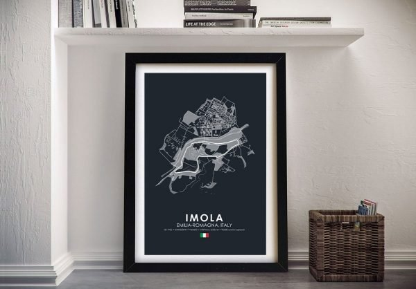 Framed F1 Circuits Wall Art in Various Colours