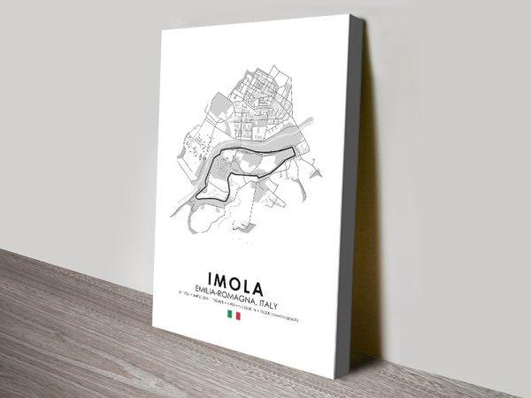 Imola F1 Race Track Print on Canvas