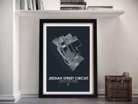 Framed Jeddah Circuit Grand Prix Art Print