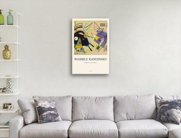 Black & Violett Affordable Abstract Art