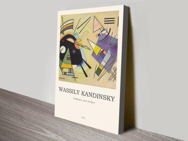 Schwarz und Violett Kandinsky Composition