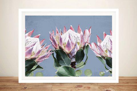 Buy a King Protea Floral Art Print