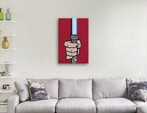 Ready to Hang Pop Art Lightsaber Artwork