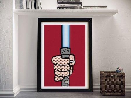 Lichtenstein Lightsaber Star Wars Pop Art