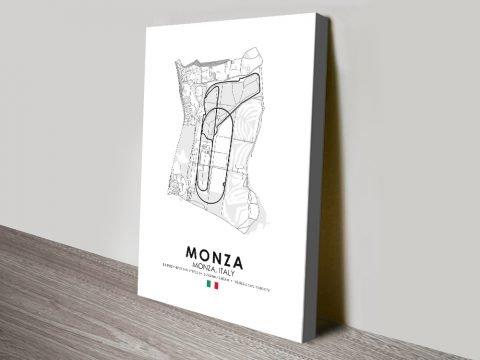 Monza Grand Prix Circuit Print on Canvas