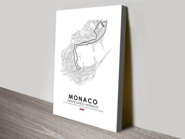 Monaco F1 Wall Art Unique Home Decor AU