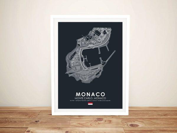 Monaco F1 Street Circuit Art on Canvas