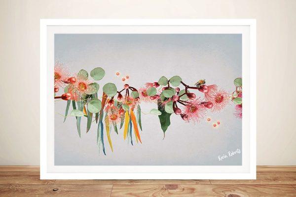 Framed Karin Roberts Australian Floral Art