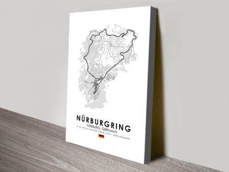 Nurburgring Circuit Stretched Canvas Print
